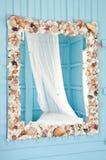 Mirror Shellfish decoration frame Royalty Free Stock Photography