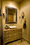 Mirror And Sink In Home Stock Photos