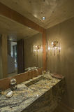Mirror And Sink In Home Royalty Free Stock Photos