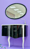 Mirror and sink to the toilet room. Kit from two subjects for toilet room Royalty Free Stock Images