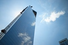 Mirror skyscraper construction Stock Images
