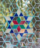 Mirror star texture. Mirro star with blue ruby Thai texture Royalty Free Stock Images