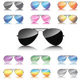 Mirror sunglasses icons set  Stock Photo