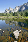 The mirror surface of the Merced river Royalty Free Stock Photography