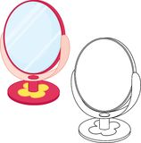 Mirror toy. Coloring book Stock Photo