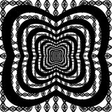 Black-and-white pattern stripes and ornament. Stock Photos