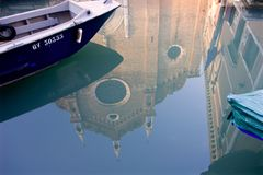 Mirror from Venice canal Royalty Free Stock Image