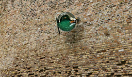 Mirror on Venice canal wall Stock Images