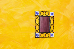 Mirror at wall Royalty Free Stock Images