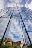 Mirror wall. A mirror wall of a skyscraper in resort city Montreux in Switzerland stock photo