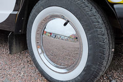Mirror wheel cover Stock Images
