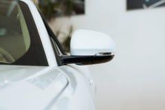 Mirror white car Royalty Free Stock Photography