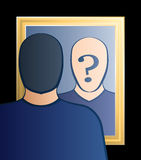 Mirror Who Am I Man Royalty Free Stock Images