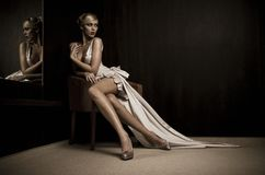 Mirror woman Royalty Free Stock Image