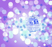 Mirrorball and colorful background Stock Photography
