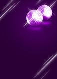Mirrorball disco background Stock Images