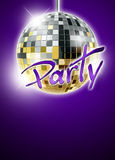 Mirrorball disco background Royalty Free Stock Images