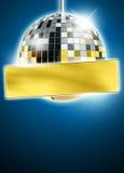 Mirrorball-Discohintergrund Stockfotografie