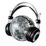 Mirrorball headphones Royalty Free Stock Photography