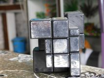 Mirrorcube stockfoto