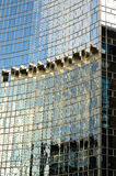 Mirrored Abstract Images in Glass Wall Stock Photography