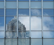 Mirrored Abstract Images in Glass Wall Royalty Free Stock Photos