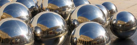Mirrored balls Stock Image