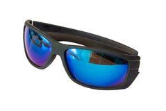 Mirrored black sunglasses Stock Photos