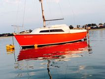 Mirrored boat. Boat water england Royalty Free Stock Image