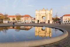 Mirrored Brandenburg Gate Stock Photos
