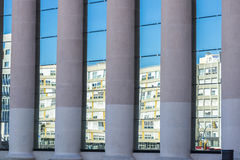 Mirrored building Stock Photography
