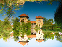 Mirrored castle Royalty Free Stock Images