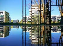 Mirrored cityscape Stock Photos