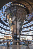 Mirrored cone of the Reichstag Stock Image