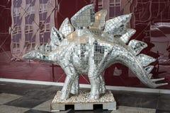 Mirrored Dinosaur Stock Photography