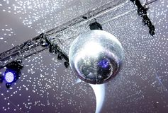 Mirrored disco ball and lights royalty free stock photo