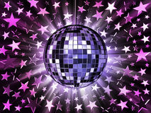 Mirrored disco ball and stars Royalty Free Stock Photo