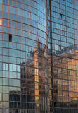The mirrored facade of the modern building Stock Images