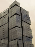 Mirrored geometric highrise Royalty Free Stock Images