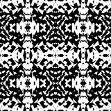 Mirrored geometric pattern. Repeatable monochrome abstract backg. Round.mO6miES3 Stock Image