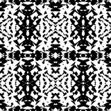 Mirrored geometric pattern. Repeatable monochrome abstract backg. Round. - Royalty free vector illustration Royalty Free Stock Photography