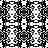 Mirrored geometric pattern. Repeatable monochrome abstract backg. Round. - Royalty free vector illustration Stock Photos