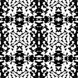 Mirrored geometric pattern. Repeatable monochrome abstract backg. Round. - Royalty free vector illustration Stock Image