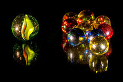 Mirrored glass beads Stock Images