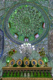 Mirrored interior of Ali Ibn Hamza shrine in Shiraz, Iran Royalty Free Stock Images