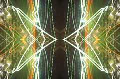 Mirrored light background. Abstract background of mirrored light on black background Royalty Free Stock Image