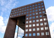 Mirrored office building. Architecture Royalty Free Stock Image