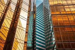 Mirrored office building exterior, Hong Kong Stock Images