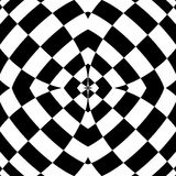 Mirrored symmetrical pattern. Geometric monochrome background. T. Essellating, mosaic texture with high contrast. - Royalty free vector illustration Royalty Free Stock Photography