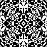 Mirrored symmetrical pattern. Geometric monochrome background. T. Essellating, mosaic texture with high contrast. - Royalty free vector illustration Royalty Free Stock Photos